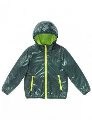 Куртка United Colors of Benetton. Цвет: темно-зеленый