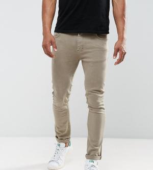 Just Junkies Светло-коричневые джинсы скинни. Цвет: коричневый