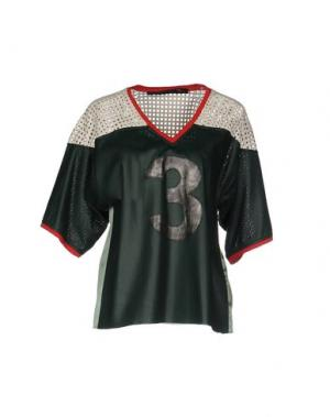Блузка TRE CINQUE SETTE. Цвет: темно-зеленый