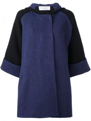 Свободное пальто с укороченными рукавами Gianluca Capannolo. Цвет: чёрный
