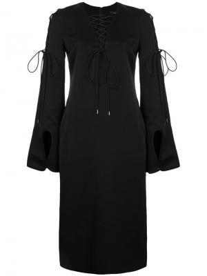 Платье-шифт со шнуровкой Ellery. Цвет: чёрный