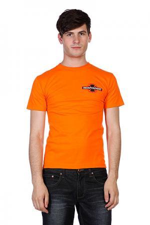 Футболка  Bullseye Orange Independent. Цвет: оранжевый