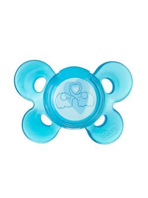 Пустышка Physio Comfort,1шт.,6-12мес.,силикон,голубая CHICCO. Цвет: голубой