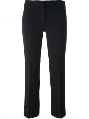 Укороченные брюки кроя слим Michael Kors. Цвет: чёрный
