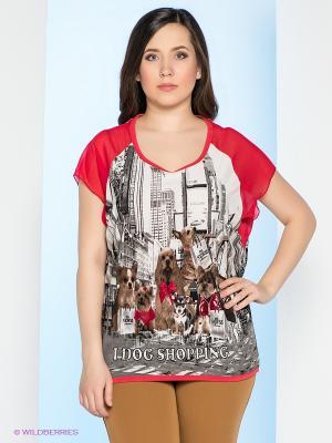 Блуза Milana Style. Цвет: красный