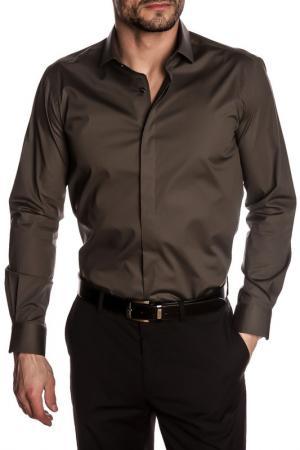 Рубашка GAZOIL. Цвет: brown