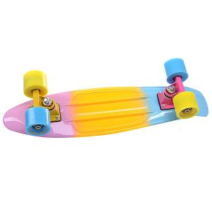 Скейт мини круизер  LikeaP Pink/Yellow/Blue 22 (55.9 см) Turbo-FB. Цвет: розовый,желтый,голубой