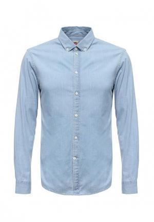 Рубашка джинсовая Celio. Цвет: голубой
