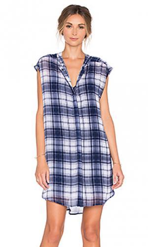 Платье на пуговицах nelson BB Dakota. Цвет: синий