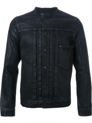 Джинсовая куртка без воротника Hl Heddie Lovu. Цвет: чёрный