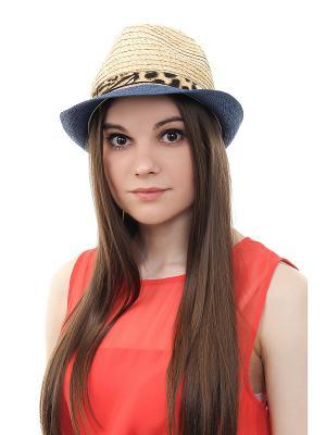 Шляпа Gusachi. Цвет: бежевый, черный, синий