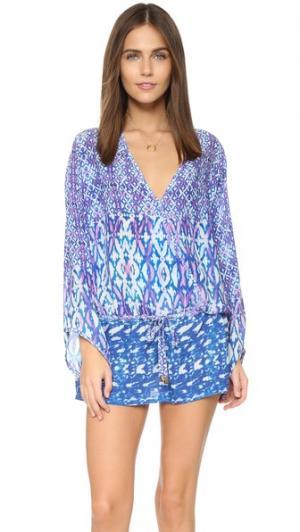 Пляжное платье Three Doors Down Bindya. Цвет: голубой/розовый