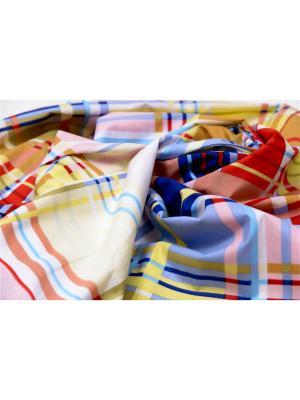 Наволочка БиоСон С 190х35 поплин клетка. Цвет: красный, оранжевый, желтый, белый, голубой