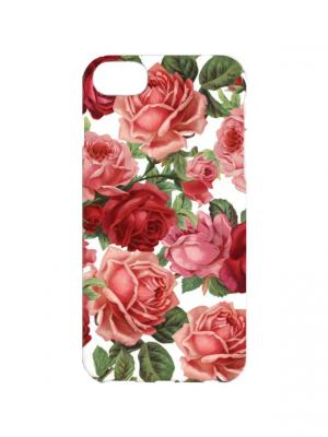 Чехол для iPhone 7 Садовое розы Арт. IP7-273 Chocopony. Цвет: зеленый, красный
