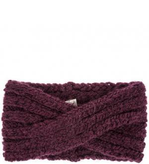 Фиолетовая вязаная повязка Noryalli. Цвет: фиолетовый