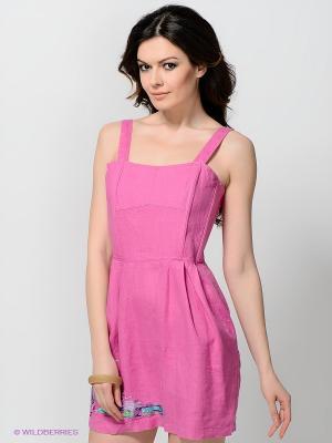 Платье TOPSANDTOPS. Цвет: розовый, сиреневый, фиолетовый