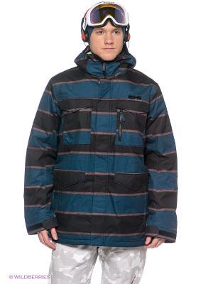 Куртка Burton. Цвет: коричневый, синий