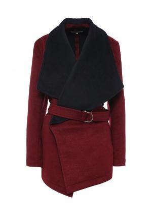Пальто Andromede. Цвет: бордовый