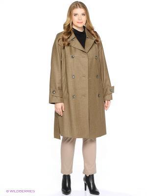 Пальто Gamelia. Цвет: оливковый