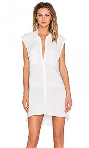 Платье-рубашка rocket Viktoria + Woods. Цвет: белый