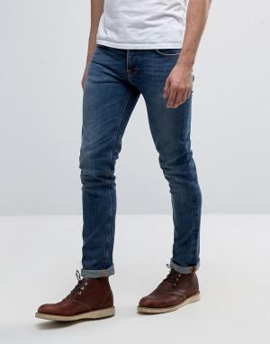 Nudie Jeans Синие джинсы Co Grim Tim. Цвет: синий