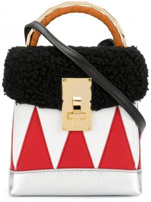 Мини сумка-бокс The Volon. Цвет: многоцветный