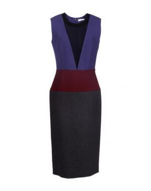 Платье длиной 3/4 BARBARA CASASOLA. Цвет: стальной серый