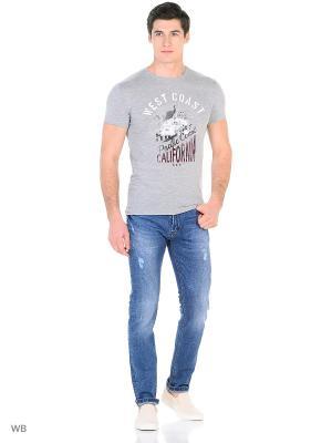Мужская футболка LTB. Цвет: серый меланж