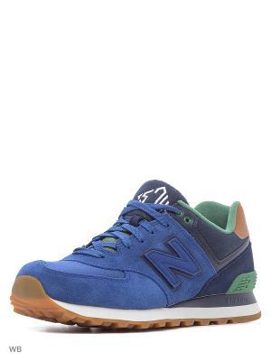 Кроссовки NEW BALANCE ML574NEA/D. Цвет: темно-синий, синий