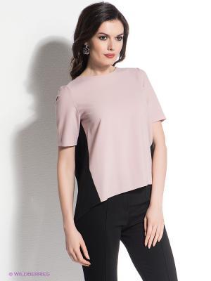 Блузка Levall. Цвет: черный, розовый