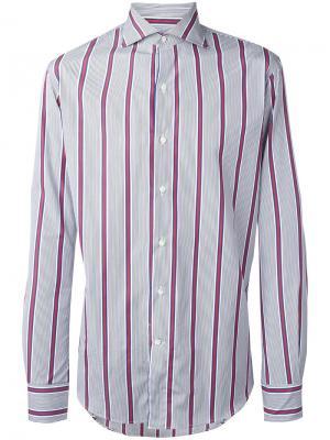 Рубашка в полоску Gabriele Pasini. Цвет: синий