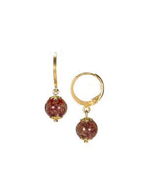 Серьги Amato цвет 432 (medium  red) Bottega Murano. Цвет: красный, золотистый