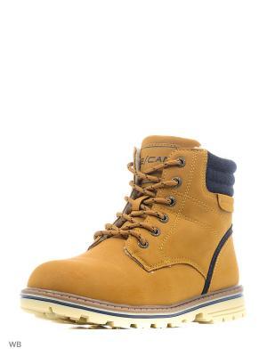 Ботинки Escan. Цвет: горчичный, синий