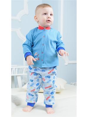 Кофточка Веселый малыш. Цвет: голубой