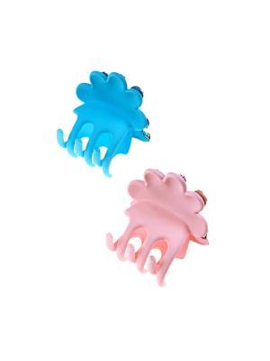 Заколка-краб (2 шт.) Happy Charms Family. Цвет: голубой, розовый