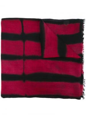 Полосатый шарф с необработанными концами Suzusan. Цвет: чёрный