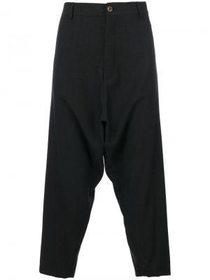 Укороченные брюки Sauvage Société Anonyme. Цвет: серый