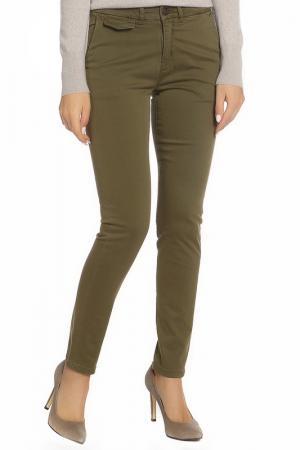 Зауженные брюки с карманами ICHI. Цвет: 13029 хаки