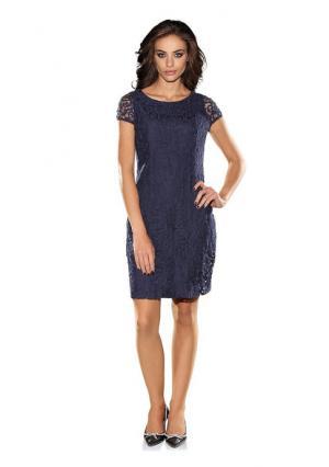 Кружевное платье PATRIZIA DINI. Цвет: синий, черный