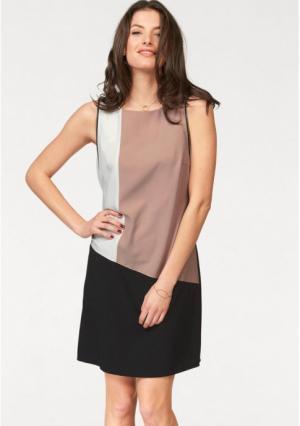 Платье-футляр VIVANCE. Цвет: черный/розовый/белый
