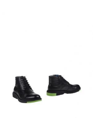 Полусапоги и высокие ботинки ANTHONY MILES. Цвет: черный