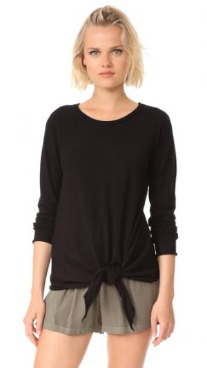 Пуловер Easy с завязками и округлым вырезом Wilt. Цвет: голубой