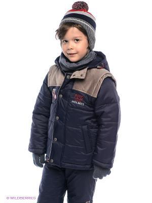 Куртка Bell bimbo. Цвет: темно-синий, серо-коричневый