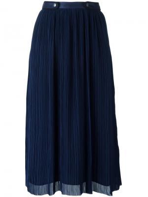 Плиссированная юбка Kenzo. Цвет: синий