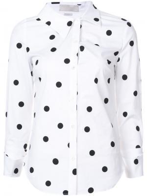 Рубашка в горох Monse. Цвет: белый