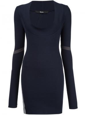 Облегающее платье Musée. Цвет: синий