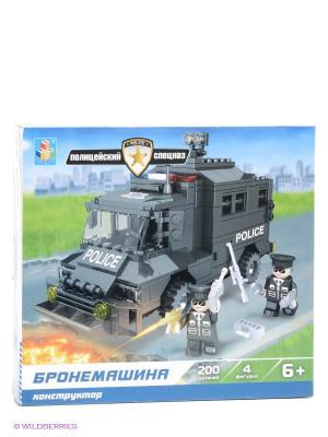 Конструктор Полицейский спецназ - Бронемашина 1Toy. Цвет: черный, белый