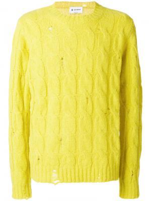 Джемпер с потертой отделкой Dondup. Цвет: жёлтый и оранжевый