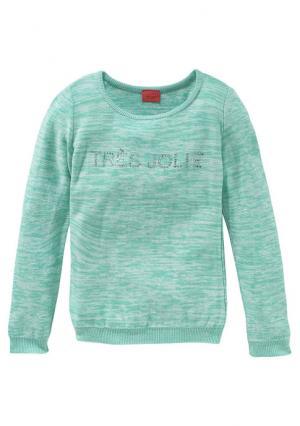 Пуловер Colors for Life. Цвет: мятный меланжевый