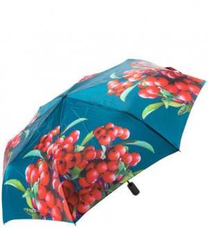 Складной зонт с сатиновым куполом FLIORAJ. Цвет: красный